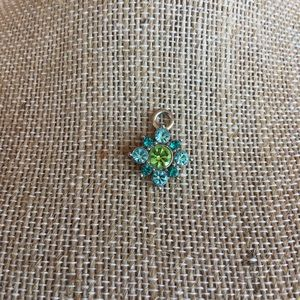Blue and Green Flower Charm